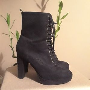 H&M lace up booties